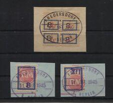 Fredersdorf Sp106(4) und Sp 200 + 201 je auf Briefstücken, 106 = BPP-gp.(B06329)
