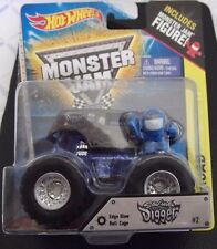 MONSTER Jam Truck Off Road Edge Glow Roll Cage Son Uva Digger #2 & Figure