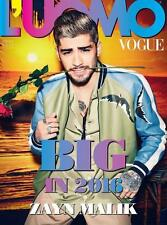 L'uomo Vogue Magazine January 2016 Zayn Malik ONE DIRECTION Adam Driver  NEW