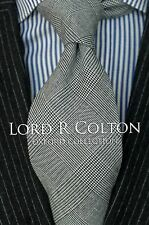 Lord R Colton Oxford Tie - English Plaid Silk & Wool Necktie - $125 Retail New
