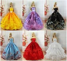 Lot 16 items = 6 PCS Dress/Wedding Clothes/Gown+10 Shose For Barbie Doll N388