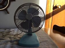 Vintage Teal Metal Desk Fan Teal Turquoise Superior Products Made in USA - WORKS