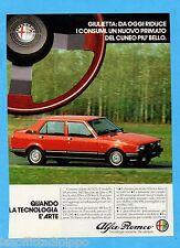 QUATTROR982-PUBBLICITA'/ADVERTISING-1982- ALFA ROMEO - GIULIETTA