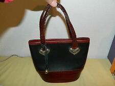 BRIGHTON BLACK / BROWN SMALL SATCHEL BAG EUC