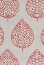 NEXT RED LEAF PRINT  WALLPAPER ROLL Wall Paper RARE *