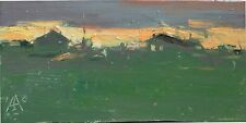 Silence landscape Village Quiet by Sergey Avdeev Original oil Painting RUSSIAN