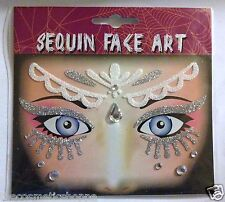 Stick-On Face Art Tattoo Goddess Queen Faux Gems Sticks On! New Sealed!