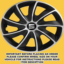 15 inch SET OF 4 SPORTY WHEEL TRIMS HUB CAPS COVERS SEAT LEON TOLEDO IBIZA ETC