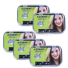 5 Packs Dental Orthodontic MIM Monoblock Metal Brackets Mini Roth .022 345HK IT