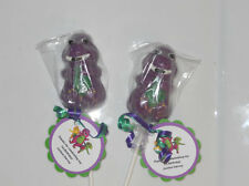 12 Barney 1st 2nd 3rd 4th  Birthday Party Favors Gourmet chocolate Lollipops