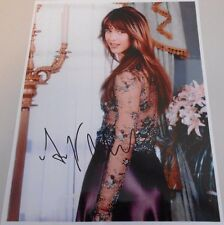 SOPHIE MARCEAU * 007 ACTRESS * PURPLE DRESS *  PHOTO HAND SIGNED 8 X 10