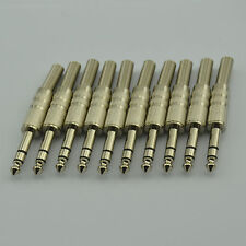 "NEW 10 pack 1/4"" male stereo TRS audio cable jack connector plugs"