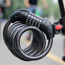 Practical 5 Digit Bike Bicycle Coded Combination Lock Steel Cable Padlock