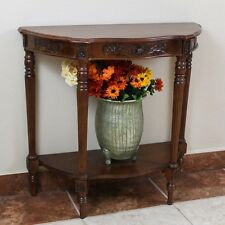 International Caravan Carved Wood One Drawer Console Table, Brown
