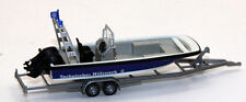 Wiking 009546 Lehmar MZB 72 Multi-Purpose Boat on Trailer THW 1/87 HO Scale