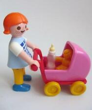 Playmobil Girl with doll's pram & bottle NEW figure for dollshouse/school