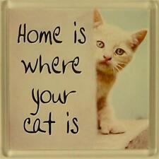 Imán De Nevera 086 Hogar es donde su gato Es