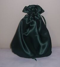 Civil War/Victorian/Sass Ladies Drawstring Purse (Dark Green Satin)