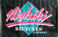 "Vintage, Old School Nishiki, In-Store Tyvek Advertising Bicycle Banner 24"" x 36"""