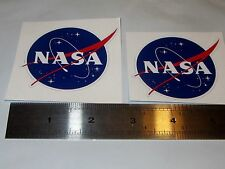 NASA MEATBALL 2.2 INCHES DECAL STICKER SET OF TWO