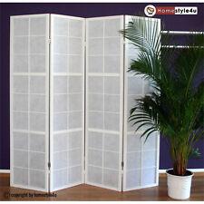 4fach Paravents Raumteiler Trennwand Shoji weiß Spanische Wand Sichtschutz