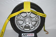 Car Tow Dollie Wheel Net Tie Down Towing Wrecker Supplies WIRE Hook USA YELLOW