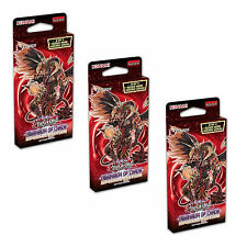 3x Yu-Gi-Oh: dimension of Chaos SPECIAL EDITION PACK - 3 scatole sigillate nuove schede