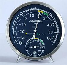 Stainless Steel Thermometer Hygrometer Temperature Humidity Monitor Meter Gauge