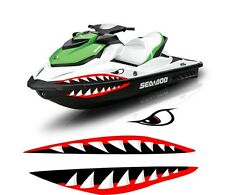 SEA DOO YAMAHA KAWASAKI honda polaris JET SKI 2 3 PWC teeth MOUTH SHARK DECAL 1