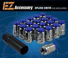 20 Pc Set Capped Spline Drive Lug Nuts ¦ Blue ¦ 12x1.5 for Hyundai Kia