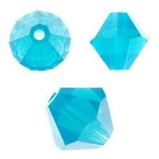 Swarovski Crystal Bicone. Caribean Blue Opal Color. 4mm. Approx. 144 PCS. 5328