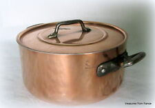 "French 9"" copper stew pot pan cocotte casserole  cuivre"