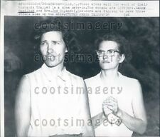 1957 Miner's Wives Wait in Suspense Mine Cave In Steubenville OH Press Photo