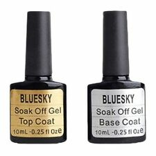 Bluesky ~ Top y Base abrigos 10ml UV-LED Soak Off Gel Nail Polish