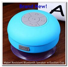 Water Resistant BTS-06 Mini Portable Shower Bluetooth Speaker w/Suction Cup New!