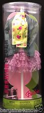 2005 BARBIE FASHION FEVER OUTFIT LACY RUFFLED SKIRT JACKET SCARF SHOES NRFB