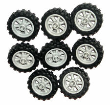 ☀️LEGO 8 MOTORCYCLE WHEELS NEW City Dirt Bike Wheels 50861 50862
