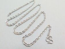 Platinum 950 Chain Women's Men's O  Link Necklace 24inch PT950 Lobster clasp