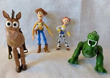LOT 4 Disney/Pixar Toy Story Bullseye Woody Rex Jessie Poseable Figures Dolls
