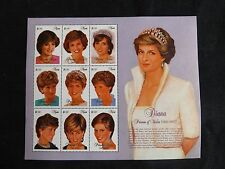 Br commonwealth, nevis - 1997 diana, princess of wales mini feuille umm
