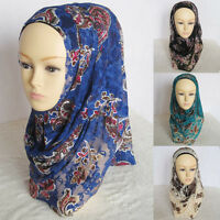 PULL ON READY MADE ONE PIECE LACE  HIJAB / SHAWL / NECK SCARF NEW BRAND