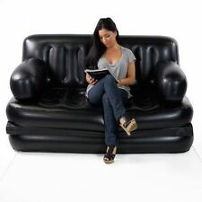 5 in1 Inflatable Sofa Air Bed Couch RECLINER LOUNGER Free Electric Pump HI QLTY