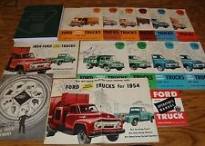 1954 Ford Truck Shop Service Manual Owners Sales Brochure 15 Piece Lot 54