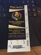 2016 COPA AMERICA SOCCER CHILE VS ARGENTINA FINAL MATCH 6/26 TICKET STUB