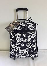 "NWT Vera Bradley Night and Day 19"" SUPER LITE Rolling wheeled Suitcase Luggage"