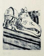 Max Beckmann (1884-1950): Stilleben mit Globus, Muschel und Büchern, Radierung