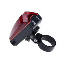 5 LED Bicycle Bike Rear Tail Red Bike Torch Laser Beam Light Lamp