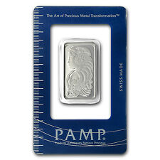 1/2 oz Pamp Suisse Silver Bar - Lady Fortuna Design - SKU #65697