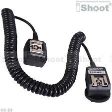2.5m Flash E-TTL Off-Camera 2-Hot-Shoe Cord Cable w PC SYNC Socket f Canon OC-E3