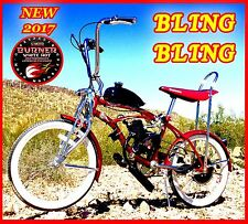 "COMPLETE DIY 2-STROKE MOTORIZED BIKE KIT WITH 20"" LOW RIDER RETRO BIKE!"